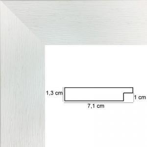 cadre Plat strié Blanc
