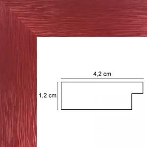 Cadre Plat strié Rouge