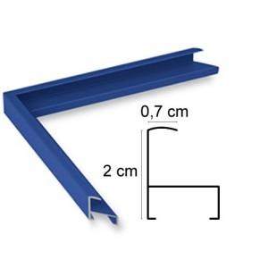Cadre aluminium bleu