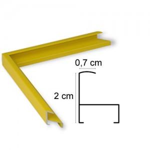 Cadre aluminium jaune